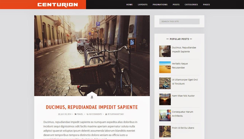 Centurion Blogger Template