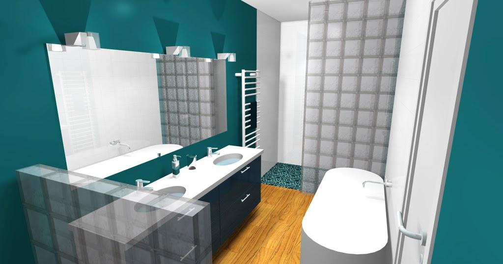 inspiration salle de bain salle de bain bleu bleu p trole. Black Bedroom Furniture Sets. Home Design Ideas