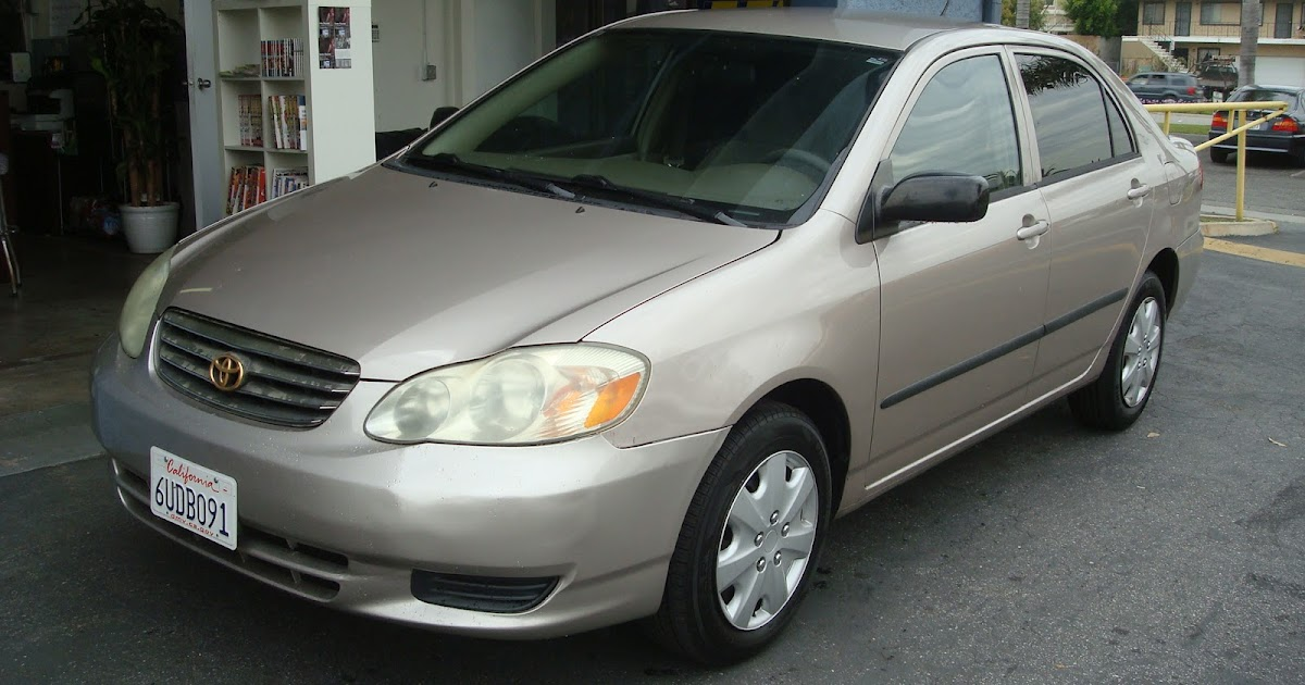 2003 Toyota Corolla Ce Gold T Tak Auto Service