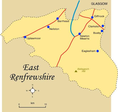 Map of East Renfrewshire Province Area