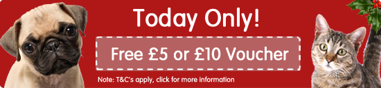 Pet Shop Bowl Black Friday - FREE £5 Voucher when you spend £50 OR a FREE £10 voucher when you spend £100!