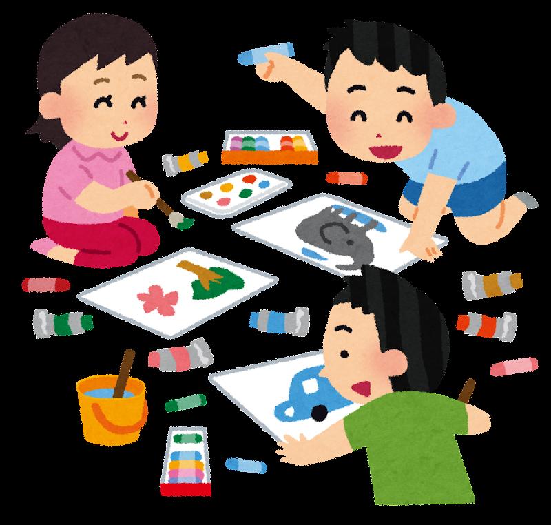 お絵描きをしている子供達の ... : 自由研究の仕方 : 自由研究