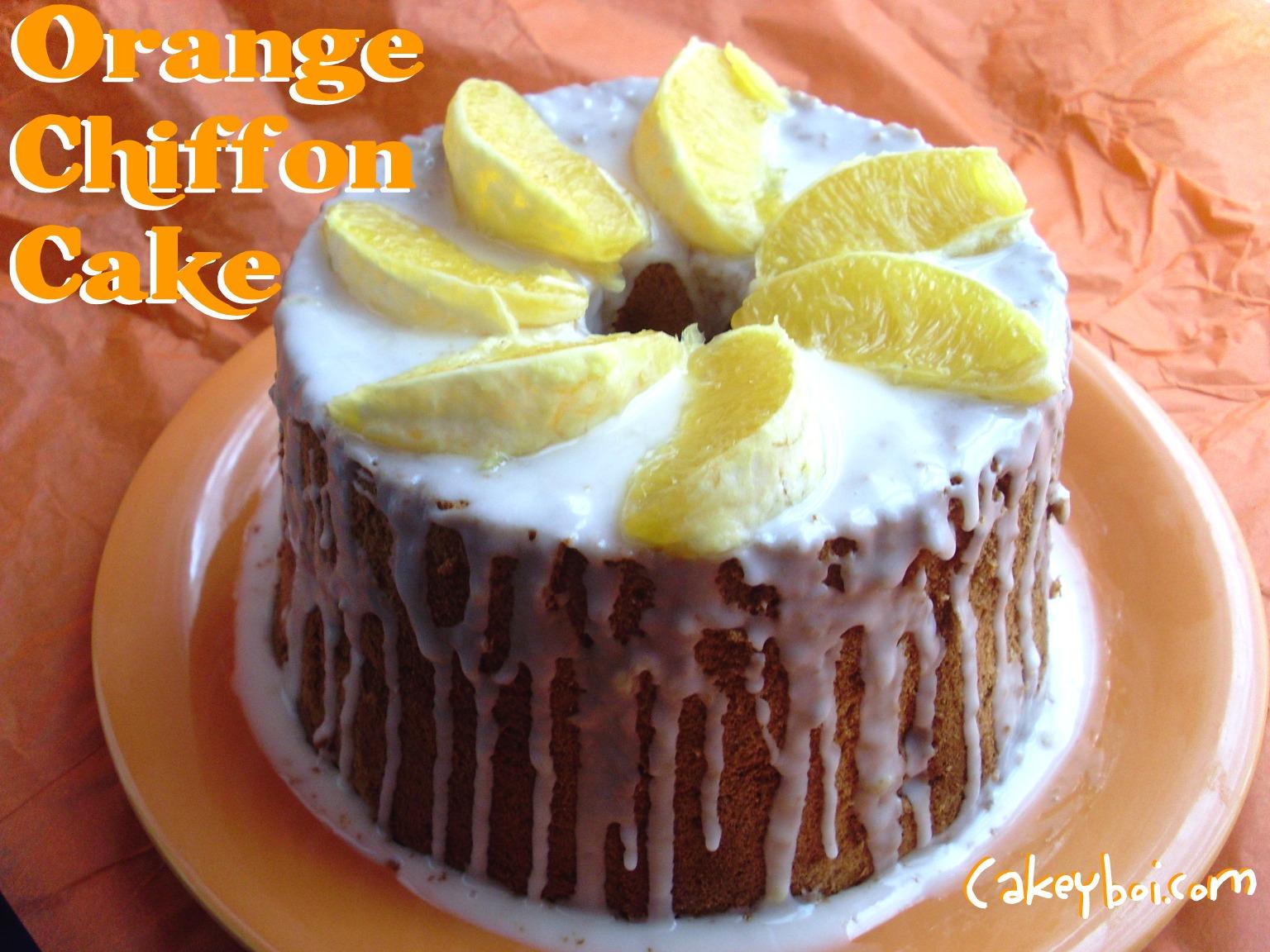 Orange Chiffon Cake with Buttermilk Ice Cream forecast