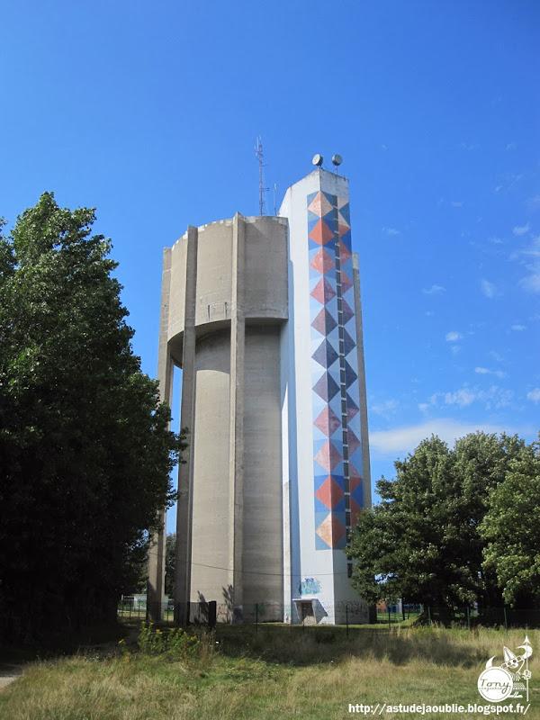 Dieppe / Saint-Aubin-sur-Scie - Château d'eau Dieppe-Vasarely  Architecte: Herbelin  Construction: 1971  Peinture: Victor Vasarely (en 1973)
