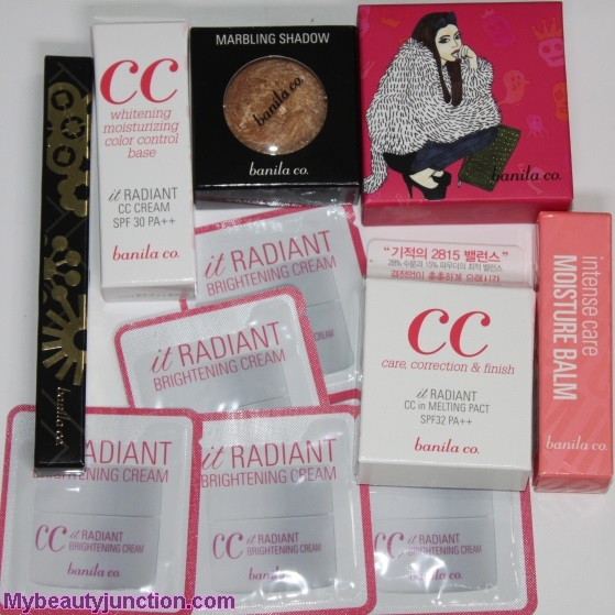 Memebox Banila co. beauty box review, unboxing, photos
