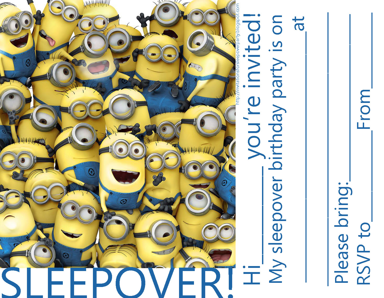 Invitations for sleepover party filmwisefo