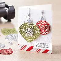 Christmas ornaments and framelits Zena Kennedy independent stampin up demonstrator