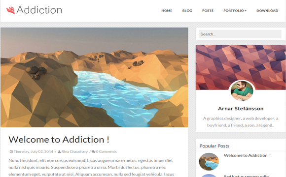 Addiction Blogger Template