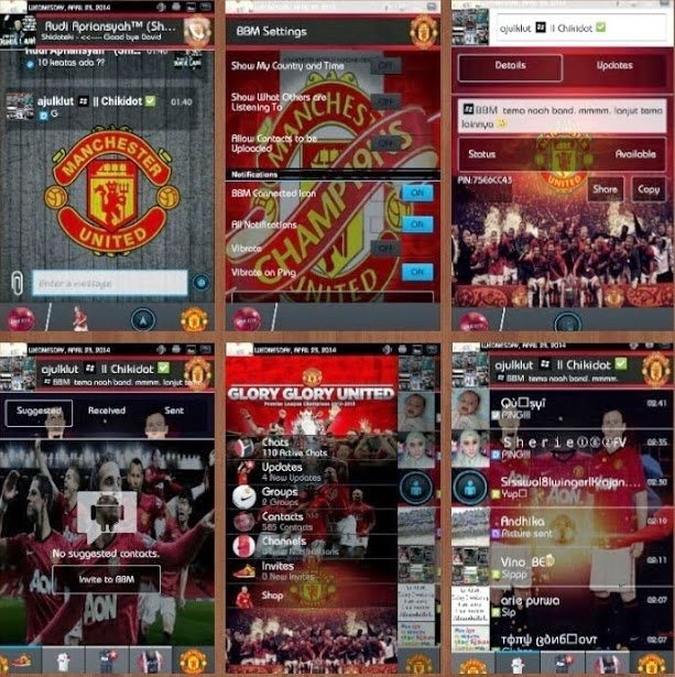BBM Mod Tema Manchester United Versi 2.6.0.30 Android