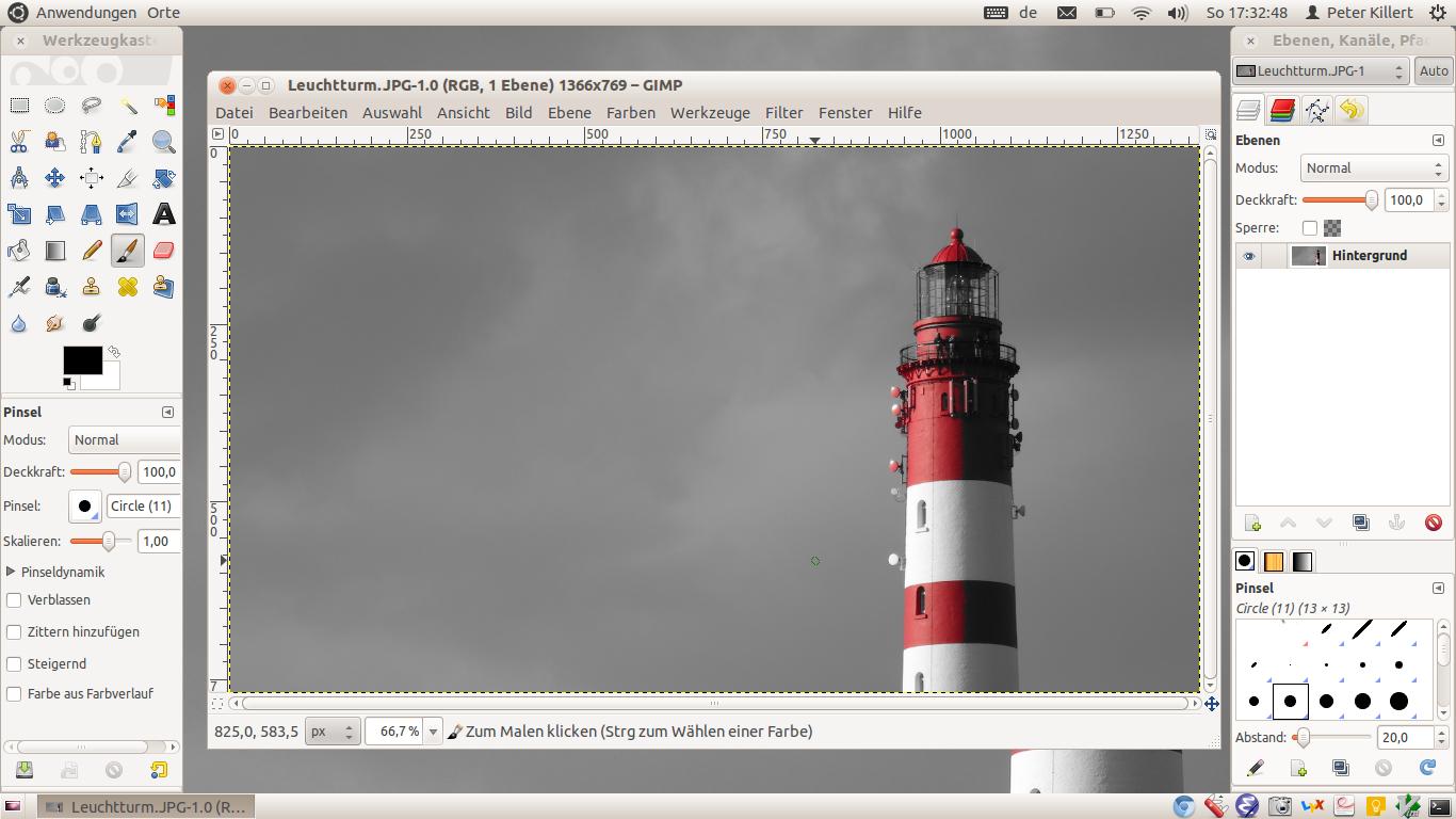 Chrubuntu Chromebook GIMP