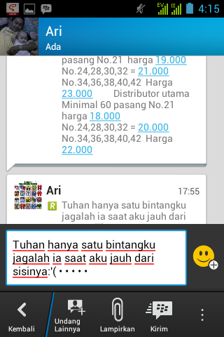 Copy Paste Chat BBM Android