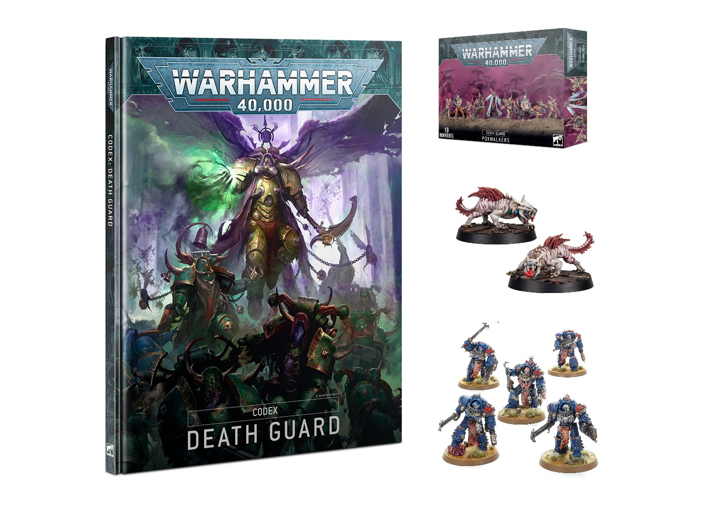 Death Guard, Night Lords, and Phyrr Cats