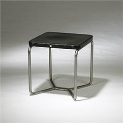 Mart Stam side table Thonet Germany, 1928 lacquered wood, chromed tubular steel