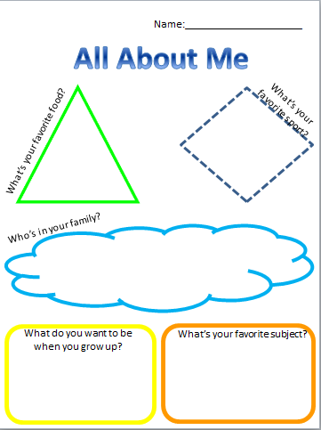 all about me template - 28 images - time capsule template ...