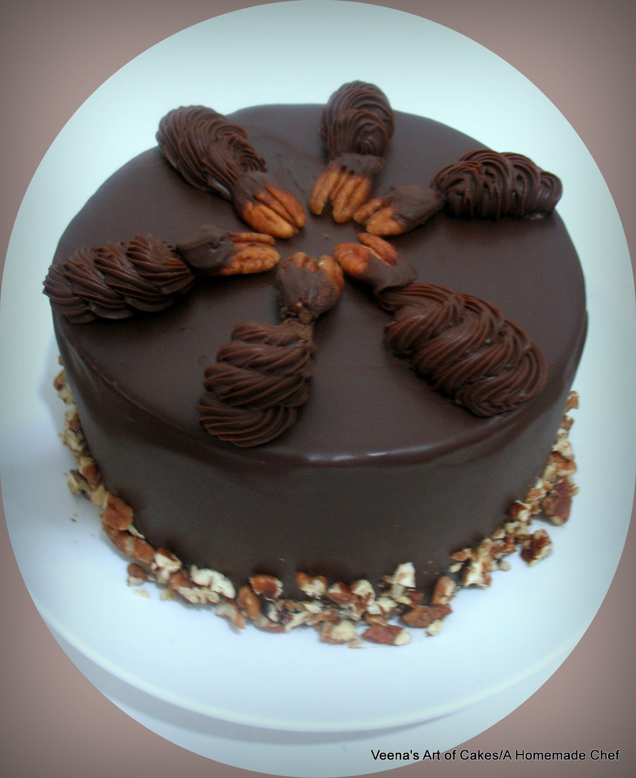 Chocolate Balls Cake Decoration : Chocolate Ganache Chocolate Cake - Veena Azmanov