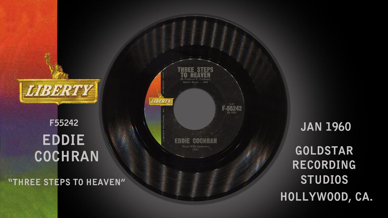 Liberty Records F55242 - Three Steps To Heaven - Eddie Cochran - 1960 ... Buddy Holly Electric Guitar