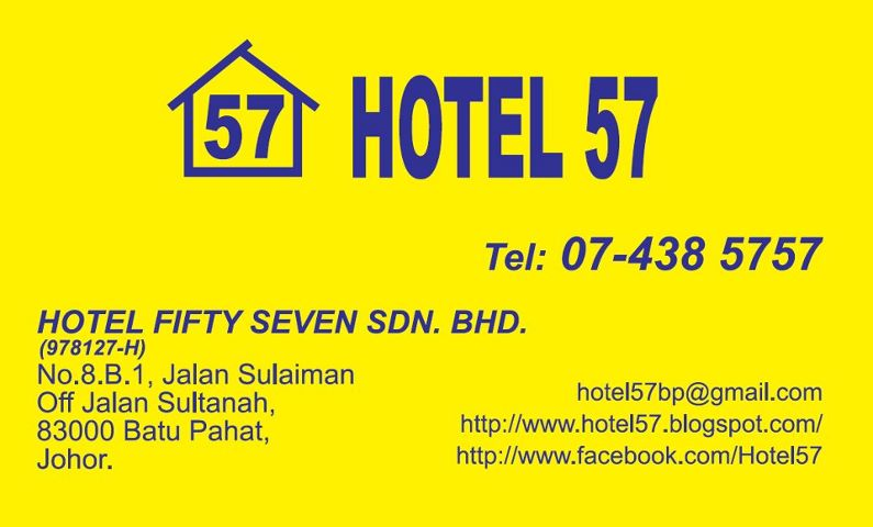 Hotel 57 Is Located At 8B1 Jalan Sulaiman Off Sultanah 83000 Batu Pahat