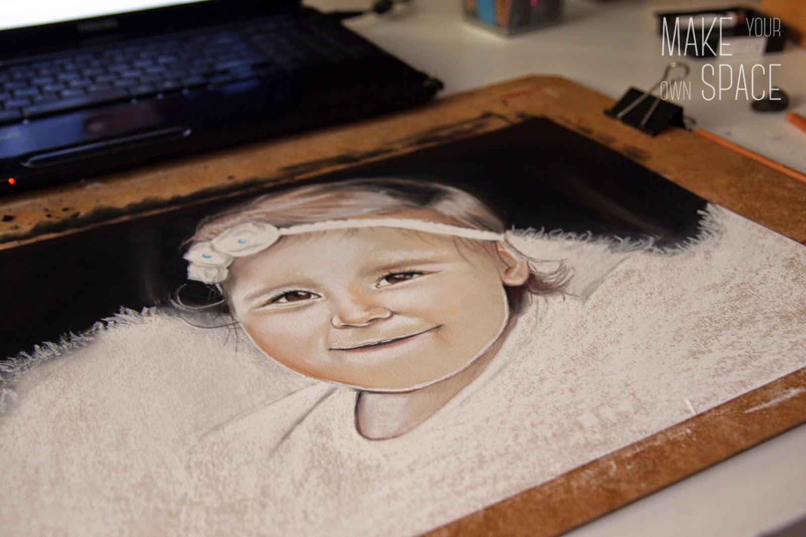 pastelowy portret, portret, dziecięcy portret, hand made, diy, dziecięce handmade, dziecko, ręczna robota, ręcznie malowane, dekoracja dziecięcego pokoju, pokój dziecięcy, design