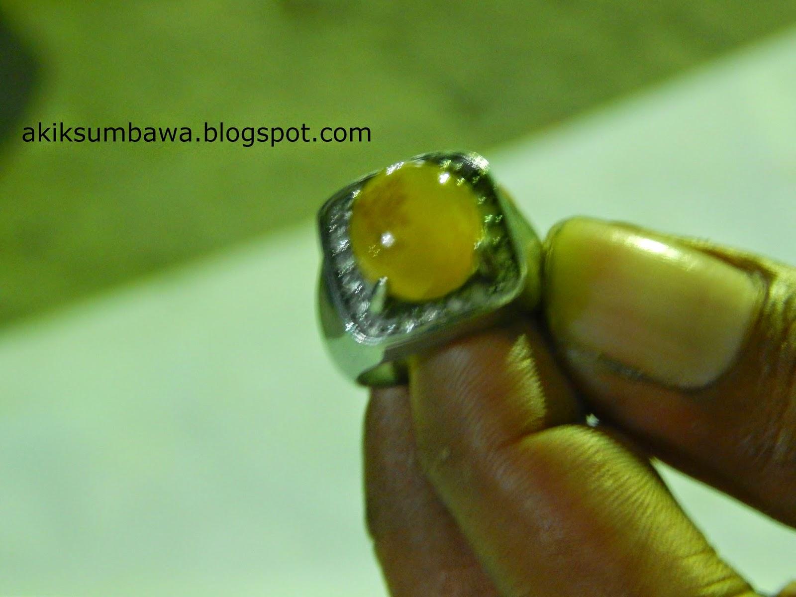 Batu Cincin Cempaka madu Asli Sumbawa