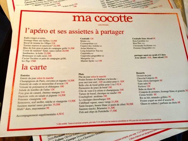Not drinking poison in paris oh la honte ma cocotte saint ouen - Ma cocotte restaurant saint ouen ...