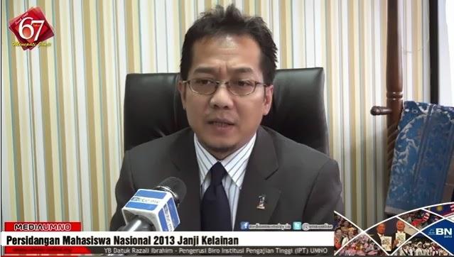 #MahasiswaNasional 2013 @shaberyc @razaliibrahim @tunfaisal : Persidangan Mahasiswa Nasional 2013 Janji Kelainan - Razali