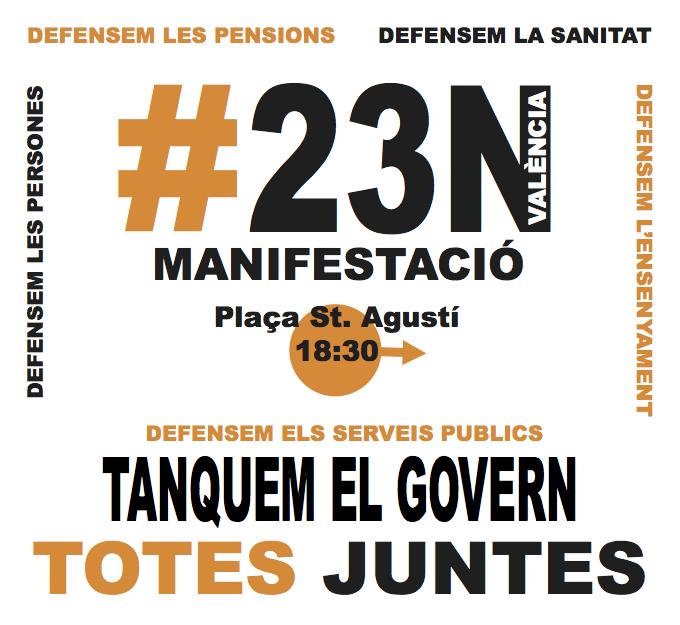 #23N, totes juntes pels nostres drets