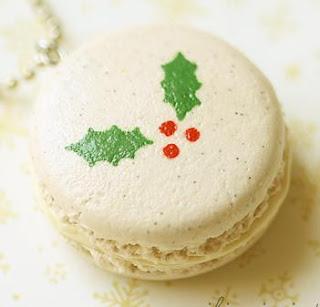 image macaron holly christmas