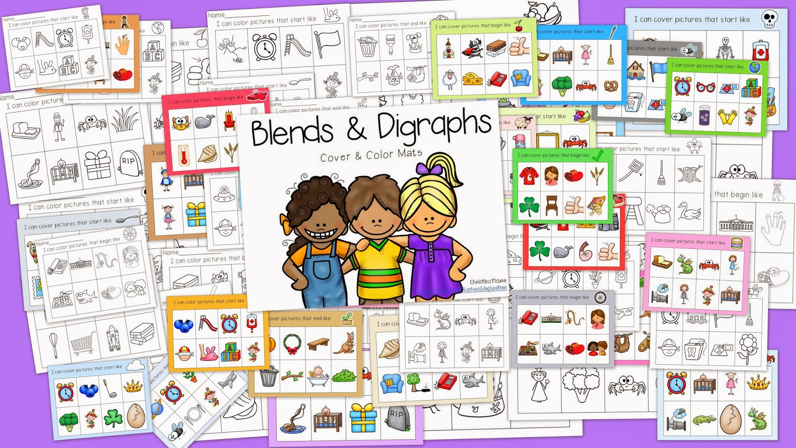 http://www.teacherspayteachers.com/Product/Blends-and-Digraphs-RTI-1171013