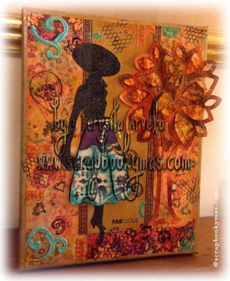 "6 de junio - ""She Fabulous"" Mixed Media Canvas"