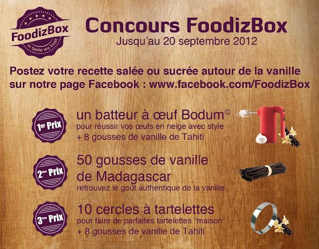 Jeu concours FoodizBox