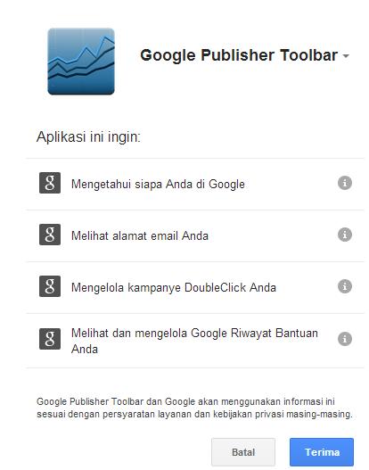 Cara Pasang Google Publisher Tool Adsense