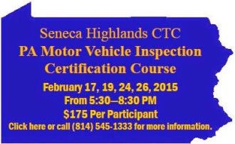 PA Motor Vehicle Inspection Course
