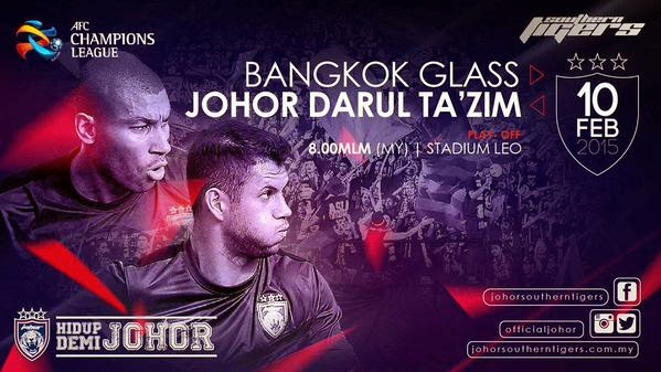 Perlawanan JDT vs Bangkok Glass FC AFC 2015