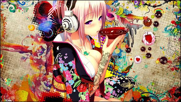 Super Sonico Kimono Girl 9u