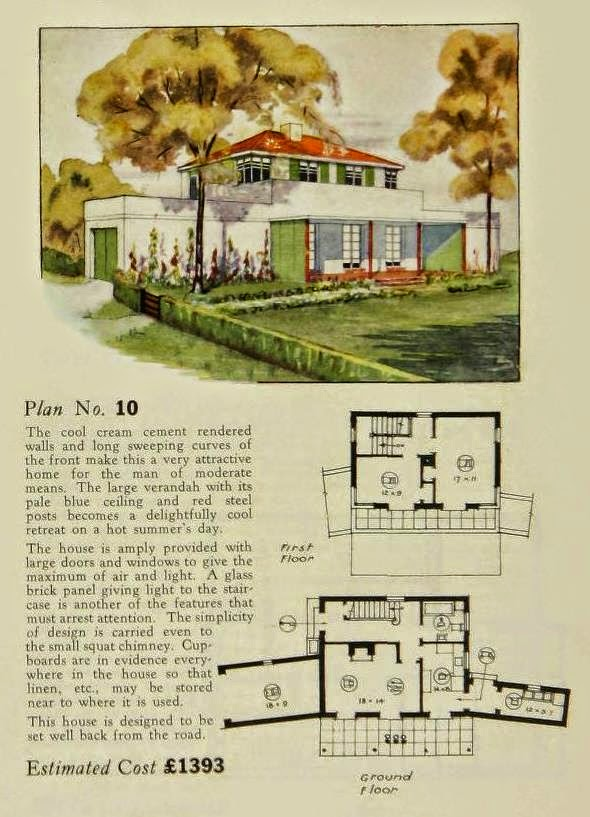 More Art Moderne and Art Deco House Plans | Art Deco Resource