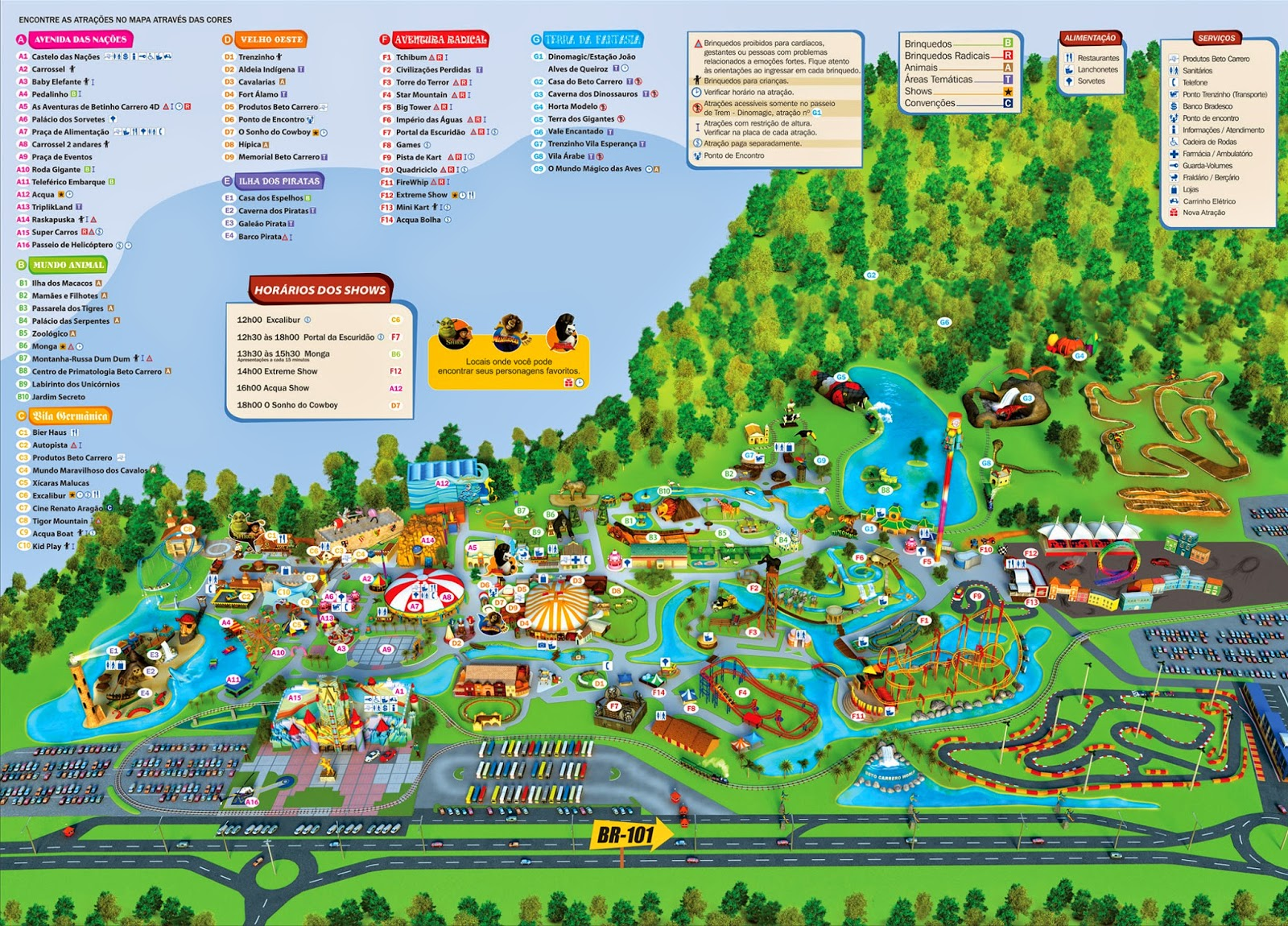 Mapa do Beto Carrero World