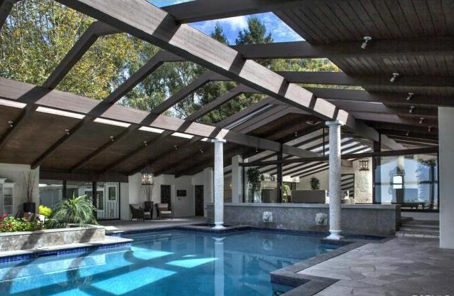 Mid Century Pool House Designs House Design And