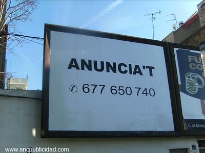 Valla publicitaria Vilanova