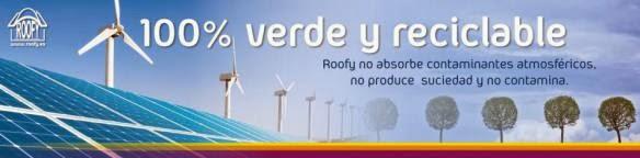 tejas de plastico roofy no contaminantes y reciclables