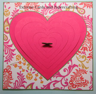 offset hearts adhered to valentine