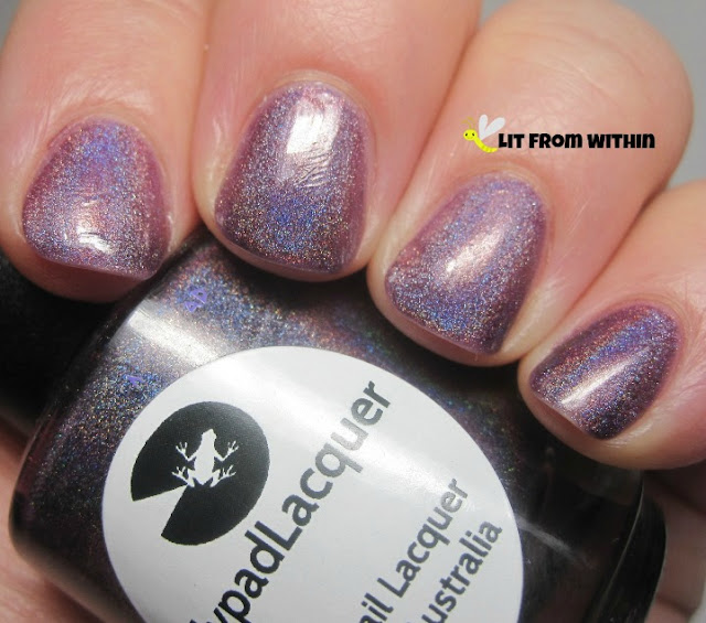 Great application, lovely holo, perfect plum