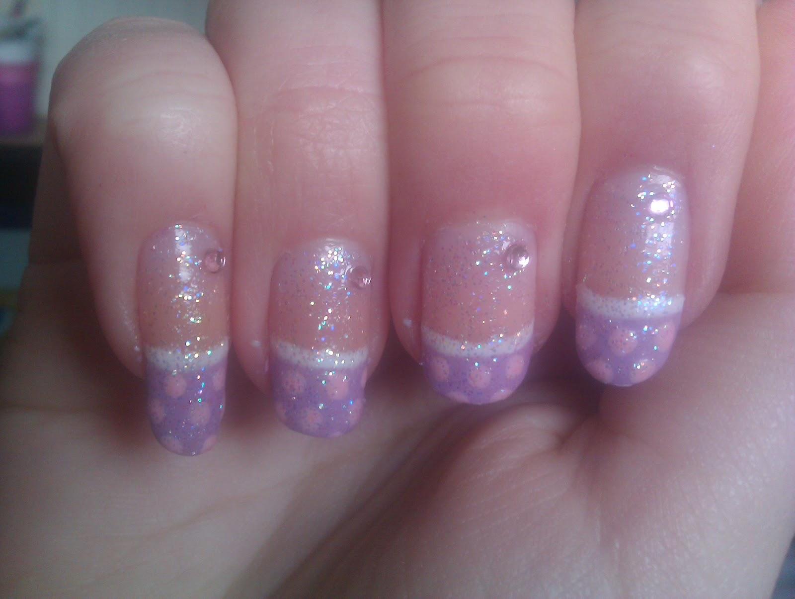 Kerrys Creative Nails Glittery Princess Nails