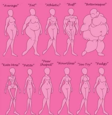 Body Type Chart Of Female