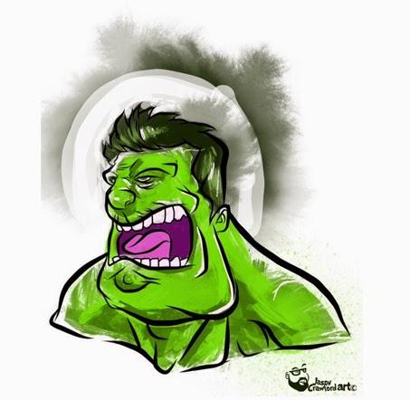 Hulk digital illustration created with ipad