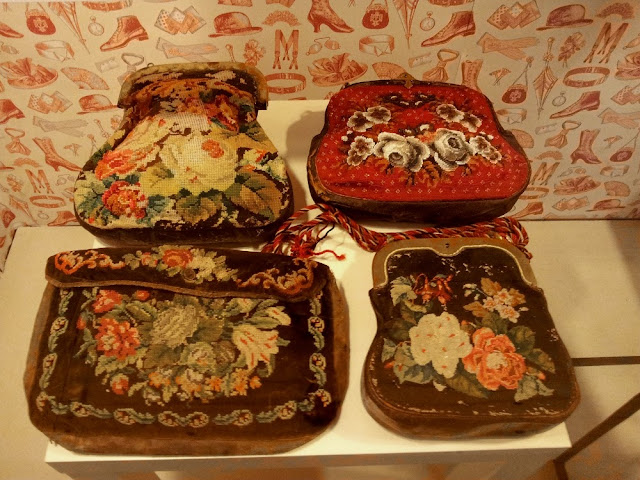 early 20th century petit point purses