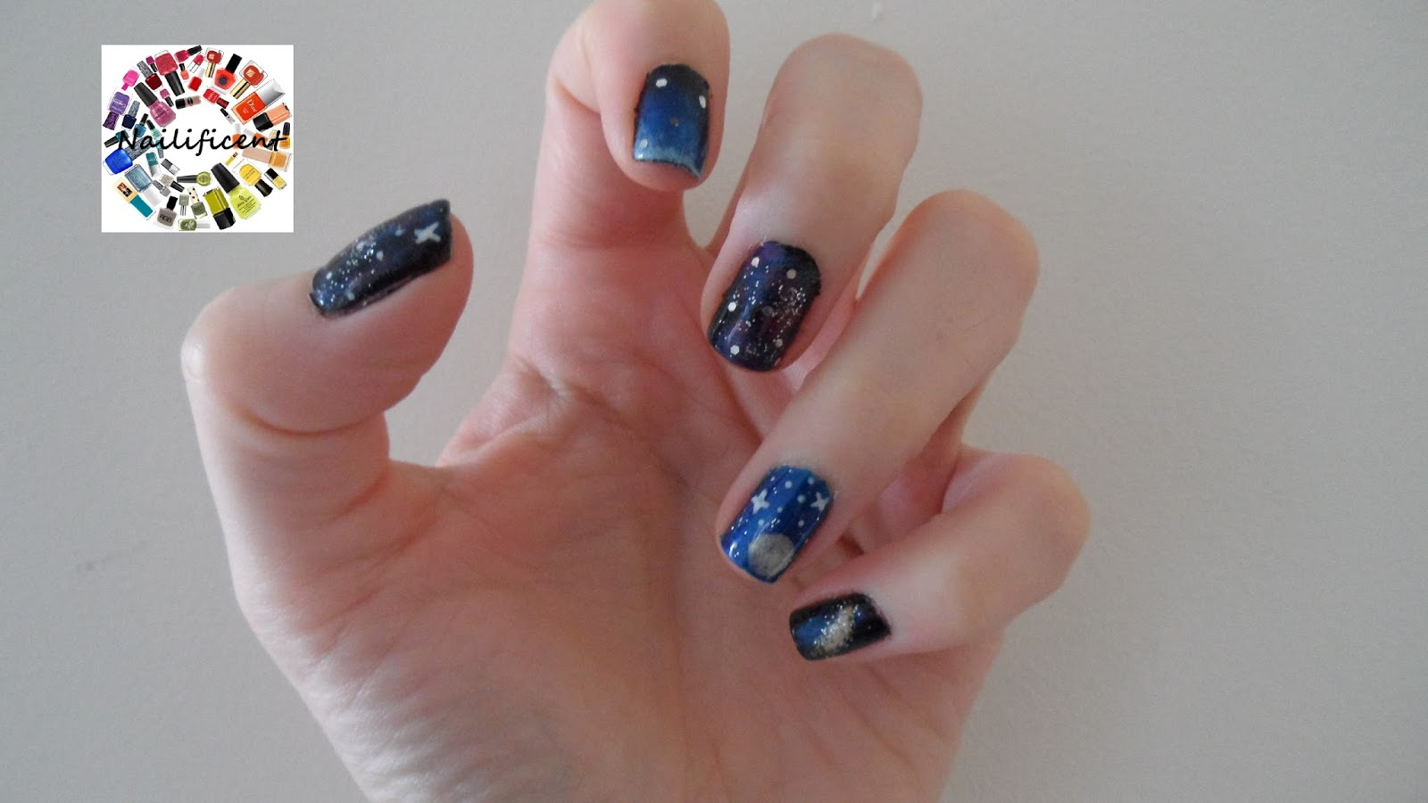Nailificent Galaxy Nail Art