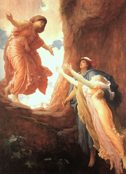 Pintura El regreso de Perséfone Obra de Frederic Leighton, 1891