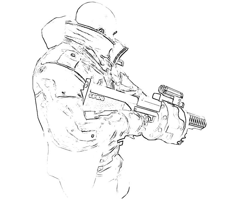 machine gun coloring pages - photo#42