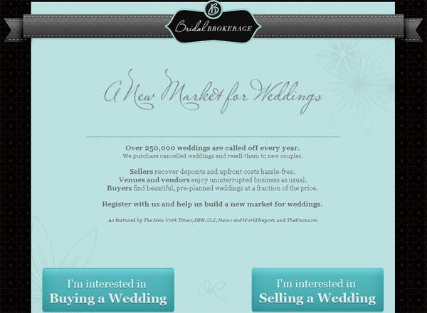 Bridal Brokerage - Make Money With Canceled Weddings