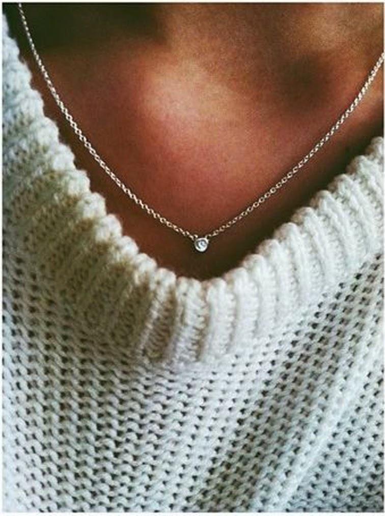 Chunky knit dainty chain